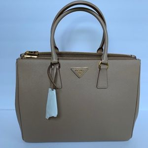 Lux Large Saffiano Cammeo Leather Tote